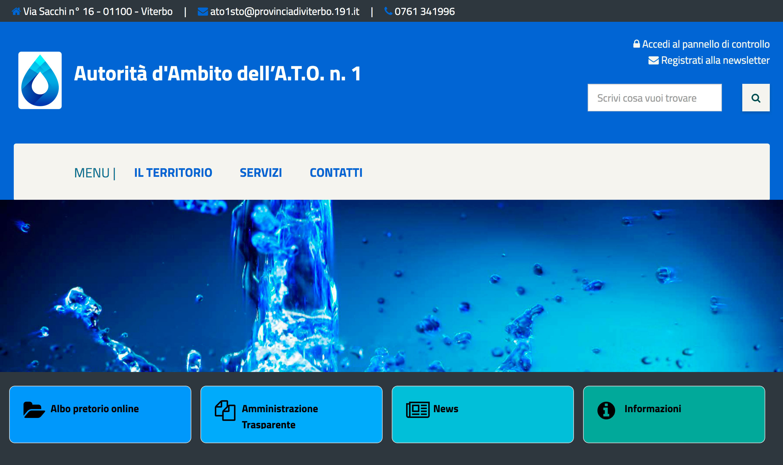 Nuovo portale web - SITO IN COSTRUZIONE